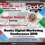 Heather Nichols, Rocks Digital Marketing Conference 2016