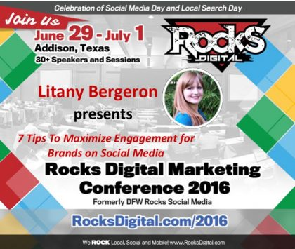 Hilton's Litany Bergeron to Present on Social Media for Brands at Rocks Digital