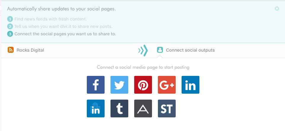 What social media accounts will dlvr.it post to