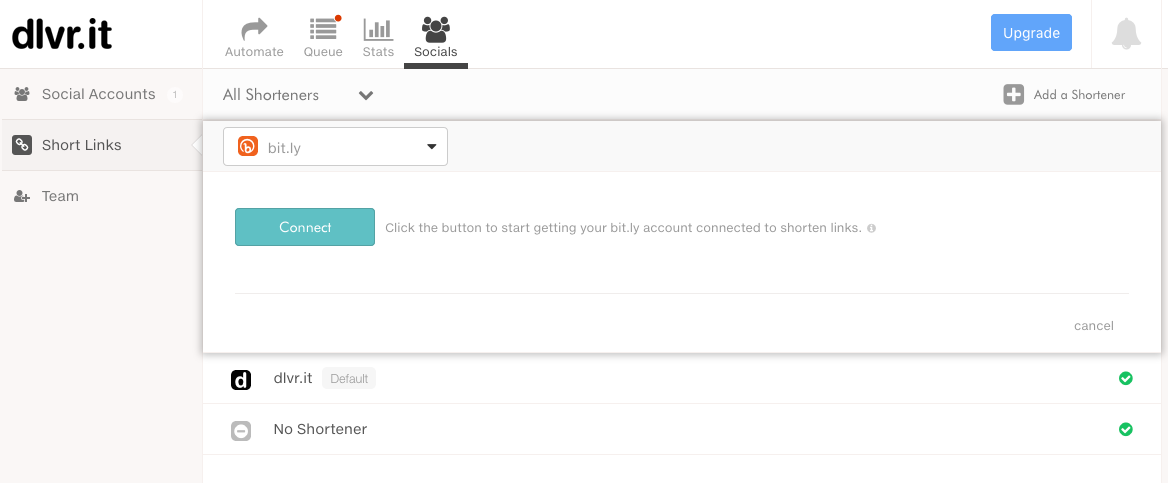 Connecting a URL Shortener in dlvr.it