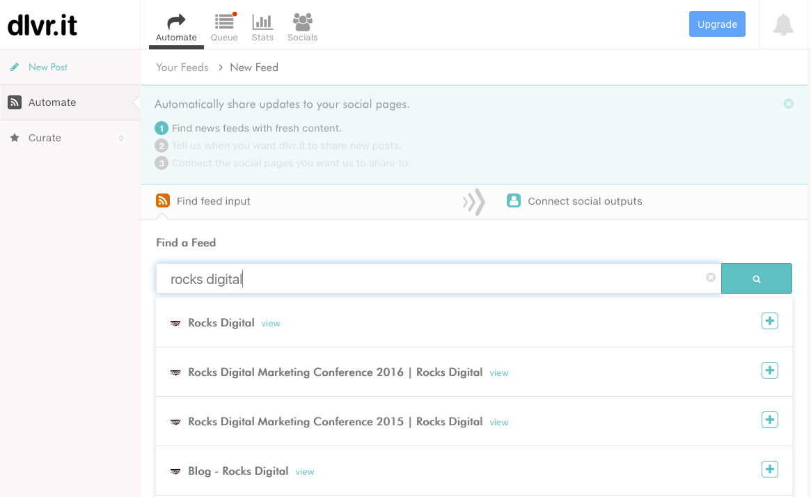 How to Find a RSS Feed with dlvr.it