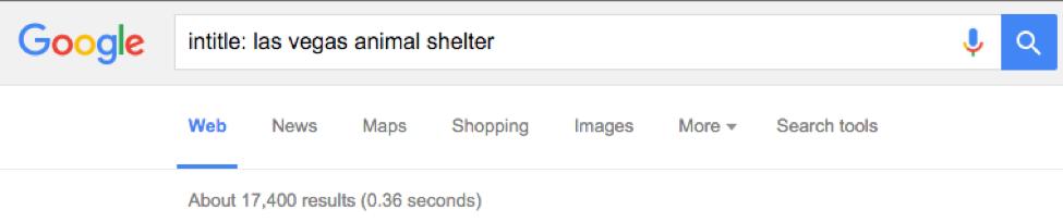Las Vegas Google Search