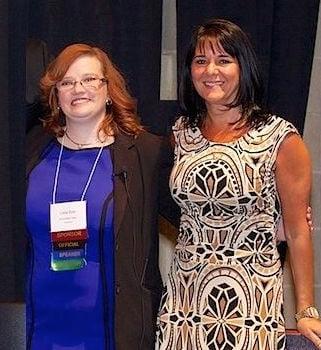 Lissa Duty and Bernadette Coleman, at DFW Rocks Social Media 2014