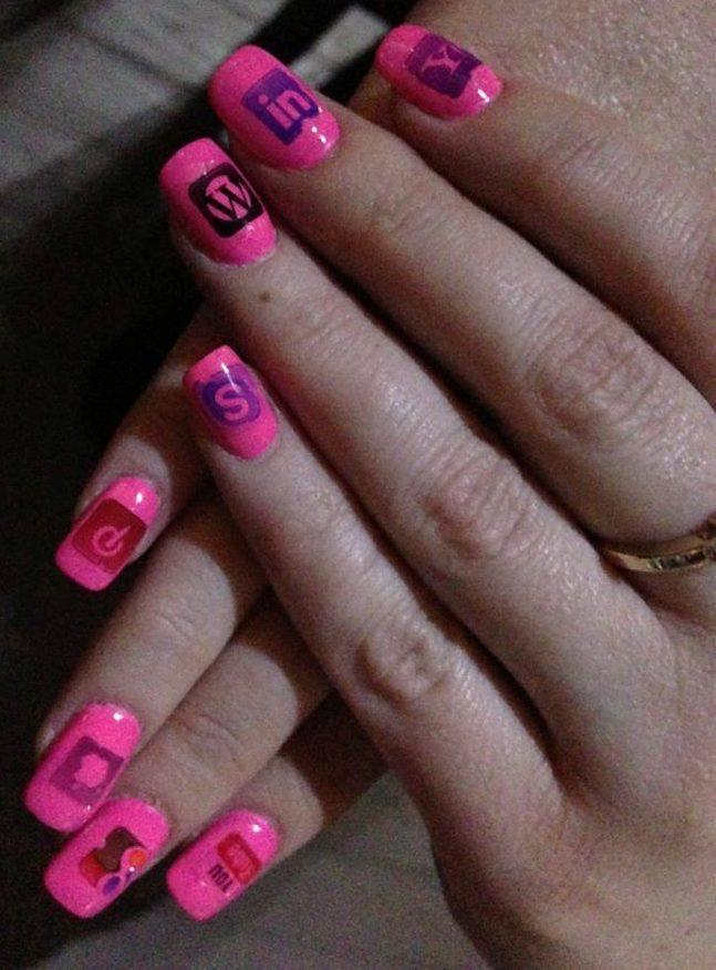 Social Media Nails for Social Media Day 2013