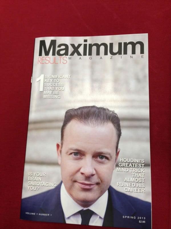 Doug Vermeeren Maximum Results Magazine