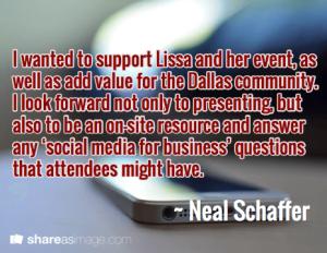 Neal Schaffer Dallas Social Media Conference