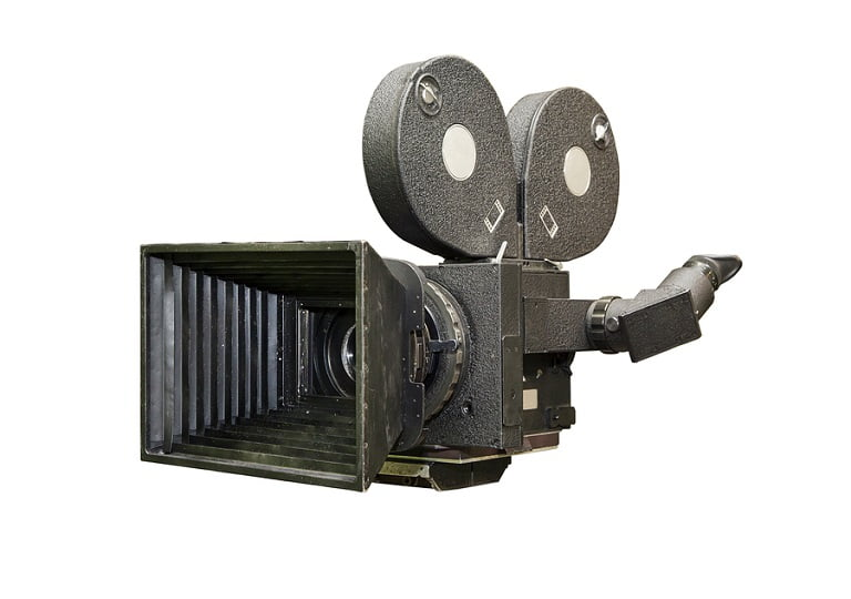 Old movie camera