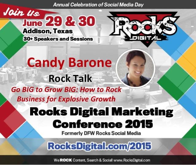 Meet Candy Barone, Rocks Digital Marketing Conference, Dallas 2015