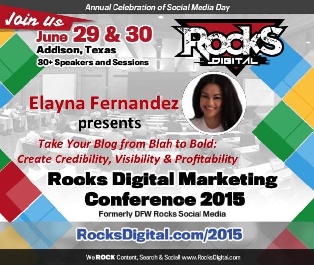 Meet Elayna Fernandez, Rocks Digital Marketing, Dallas Social Media Speaker