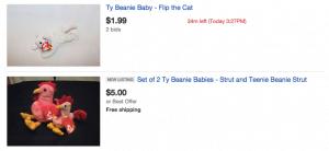 beanie baby on Ebay