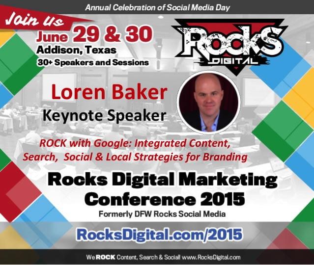 Loren Baker to Keynote at Rocks Digital Marketing Conference in Dallas 2015