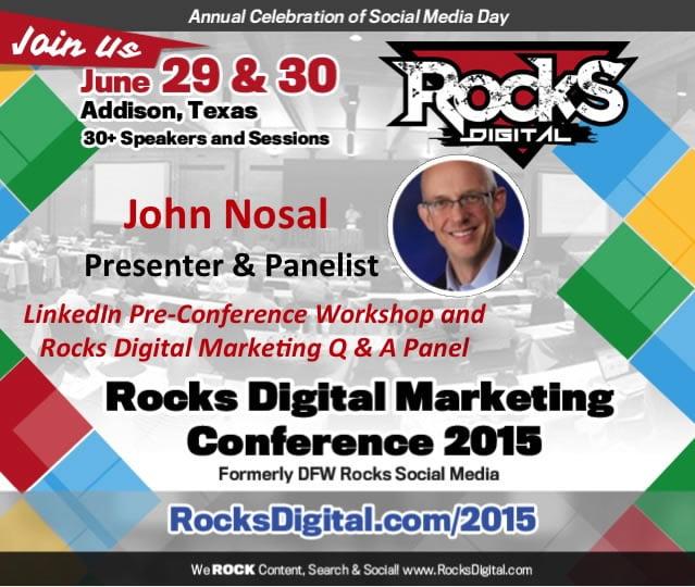 John Nosal, Rocks Digital Marketing Conference 2015