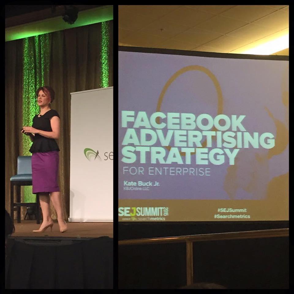 SEJ Summit Dallas, Kate Buck, Facebook Speaker