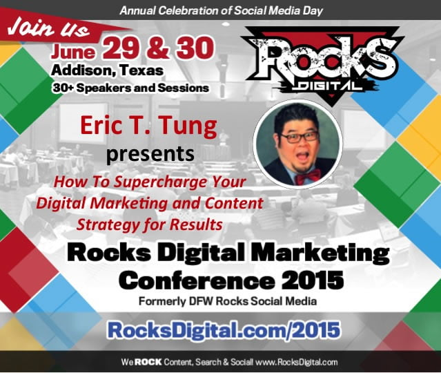 Eric T. Tung, Social Media Influencer, Speaks on Content Strategy at Rocks Digital Marketing Conference