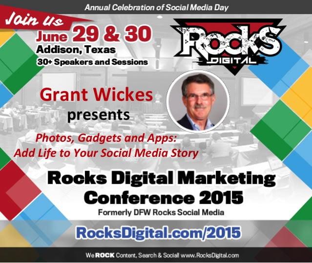 Grant Wickes, Social Media Speaker at Rocks Digital Marketing Conference 2015