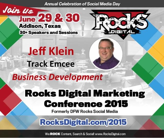 Jeff Klein, Speaker to Emcee at Rocks Digital Marketing Conference 2015