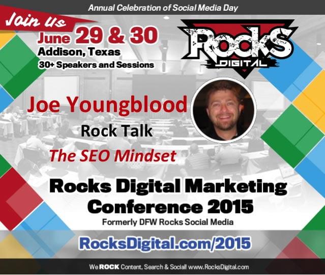Joe Youngblood, SEO Speaker to Present at Rocks Digital Marketing Conference 2015
