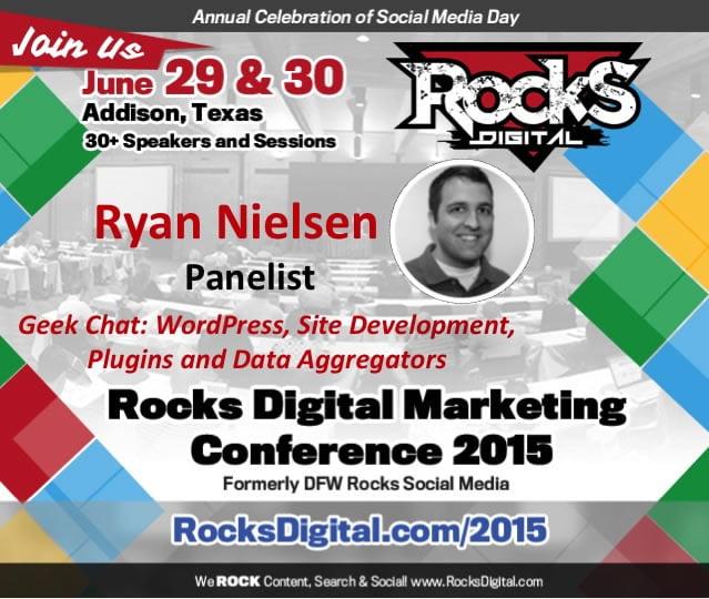 Ryan Nielsen, WordPress Developer Speaks at Rocks Digital Marketing Conference 2015