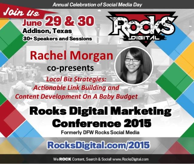 Rachel Morgan, SEO Speaker presents at Digital Marketing Conference in Dallas