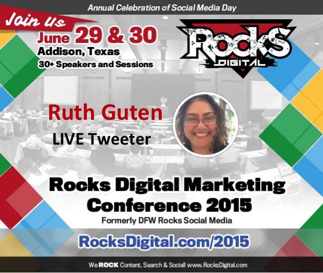 Ruth Guten, Rocks Digital Marketing Conference 2015