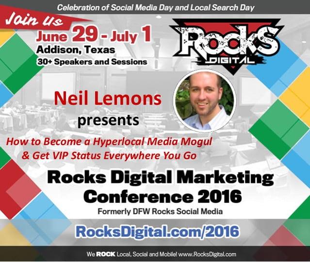 Neil Lemons, Rocks Digital Marketing Conference Dallas 2016