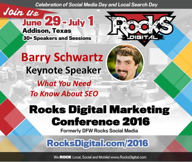Barry Schwartz, Founder Search Engine Roundtable, Rocks Digital Marketing Conference Dallas