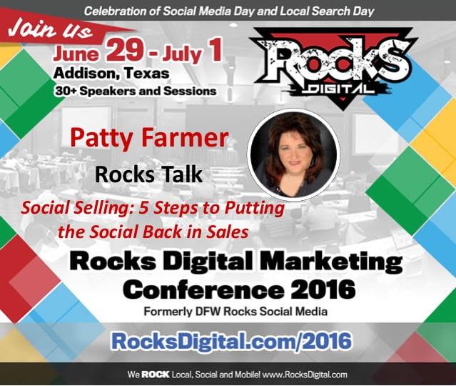 Patty Farmer, Rocks Digital Marketing Conference Dallas 2016