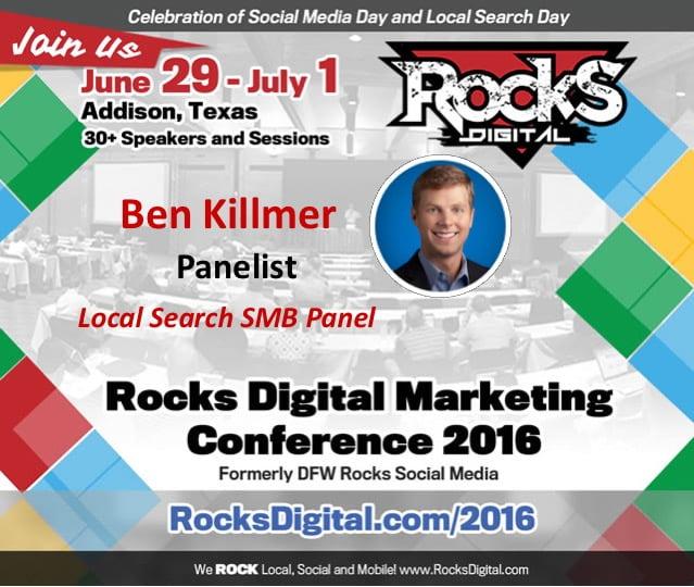 Ben Killmer, Google, Rocks Digital 2016
