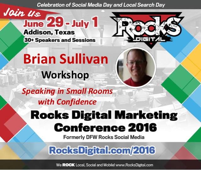 Brian Sullivan, Speaking Workshop, Rocks Digital 2016