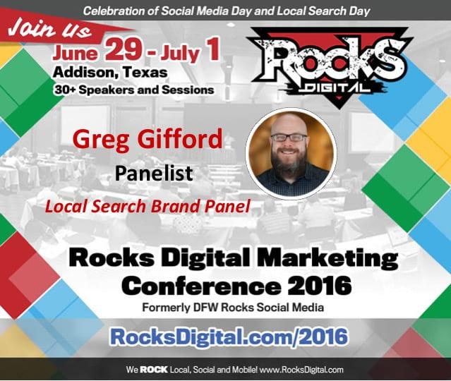 Greg Gifford, Rocks Digital Marketing Conference 2016