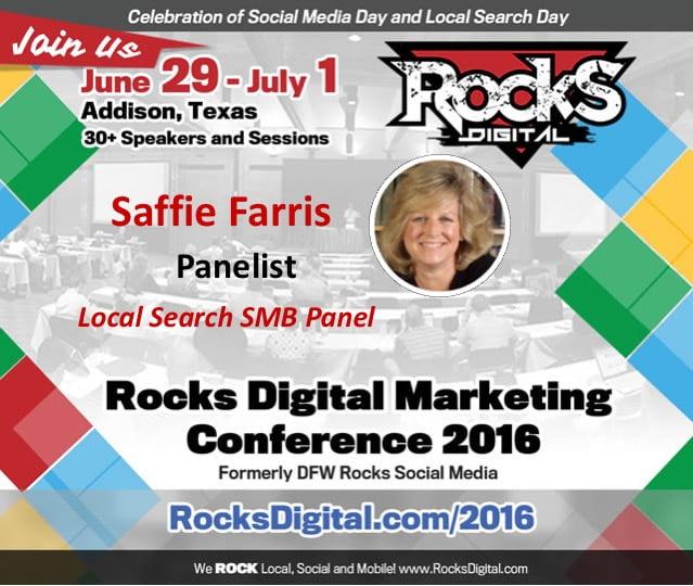 Saffie Farris, Rocks Digital Marketing 2016