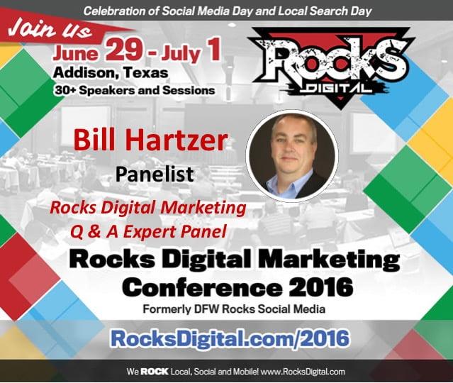 Bill Hartzer, SEO Expert, Rocks Digital 2016