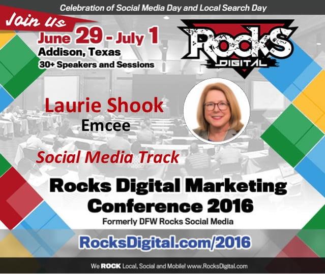 Laurie Shook, Rocks Digital Marketing Conference