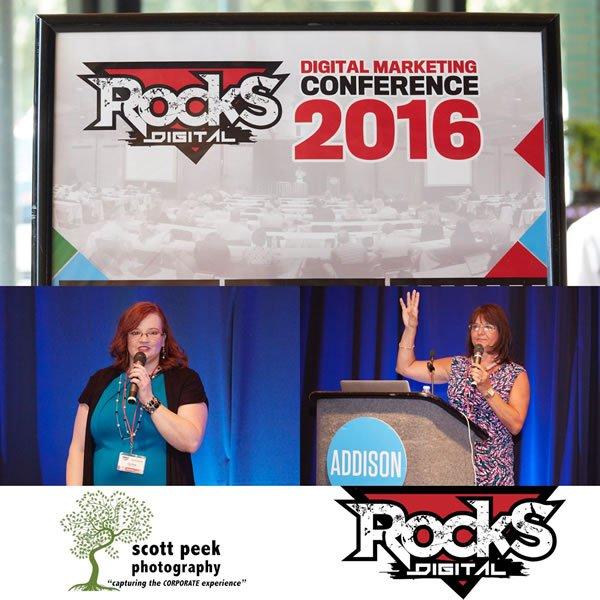 Lissa Duty and Bernadette Coleman, Rocks Digital Marketing Conference Dallas 2016