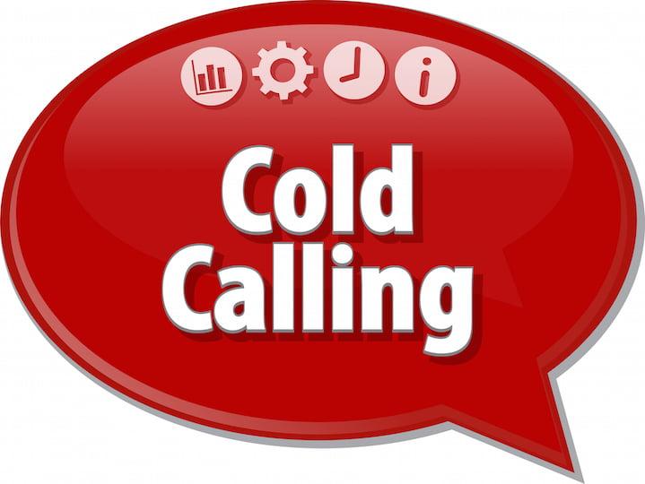 Cold Calling Speech Bubble