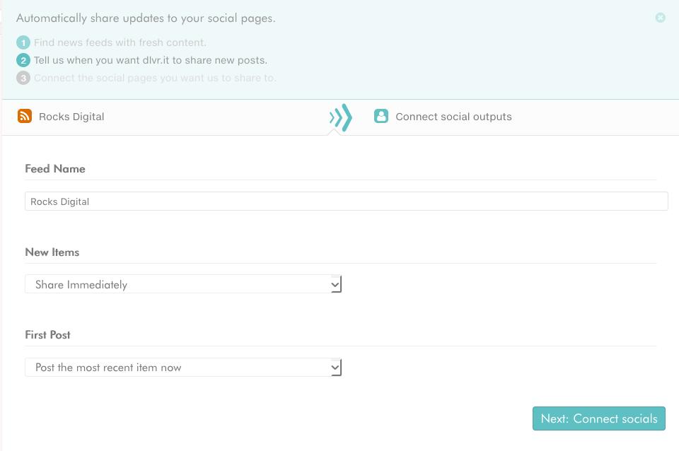 RSS feed in dlvr.it