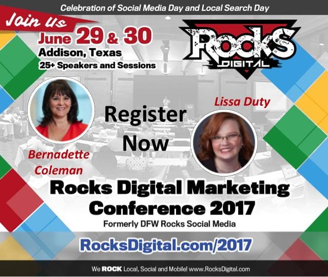 Rocks Digital Marketing Conference Dallas 2017