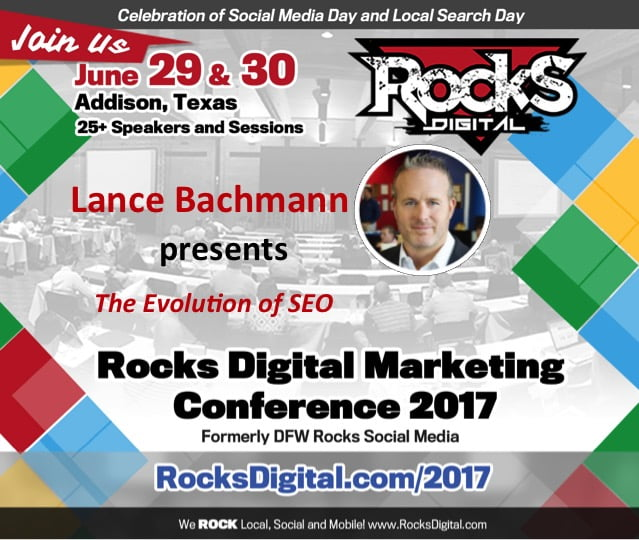 Lance Bachmann to speak at Rocks Digital Marketing Conference in Dallas 2017