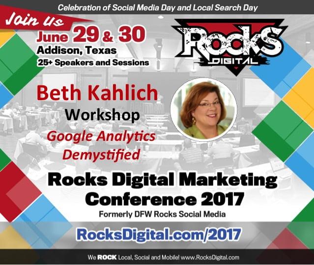 Beth Kahlich, Dallas SEO Trainer to Speak at Rocks Digital