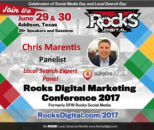 Chris Marentis to Speak at Rocks Digital Marketing Conference 2017
