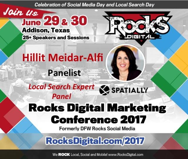 Hillit Meidar-Alfi, Local Search Expert Panelist at Rocks Digital 2017
