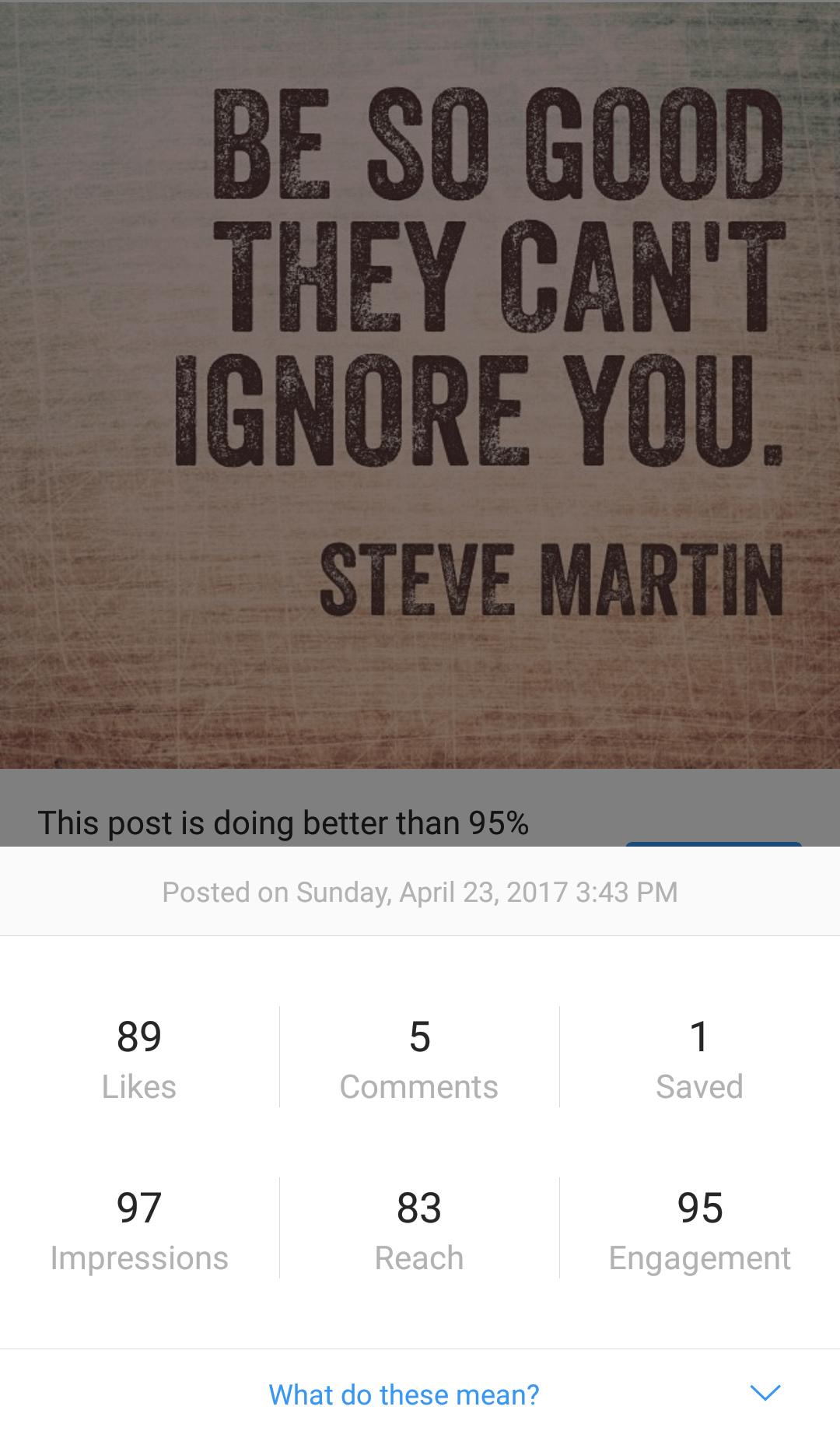 Post Insights Instagram 2