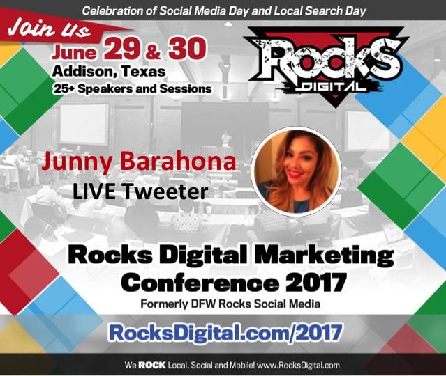 Junny Barahona, Live Tweet at Rocks Digital 2017