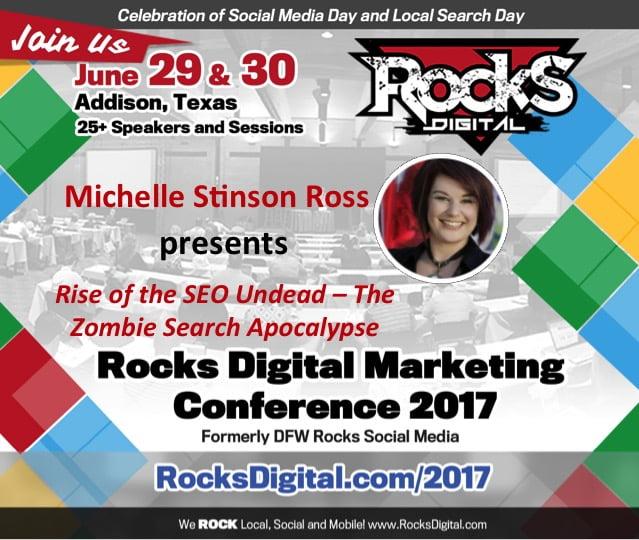 Michelle Stinson Ross, to present at Rocks Digital Marketing Conference in Dallas 2017