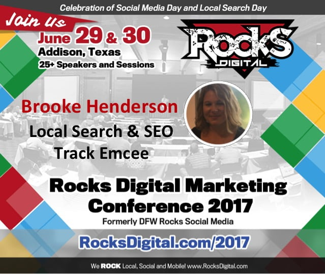 Brooke Henderson, Local Search & SEO Rocks Digital Track Emcee
