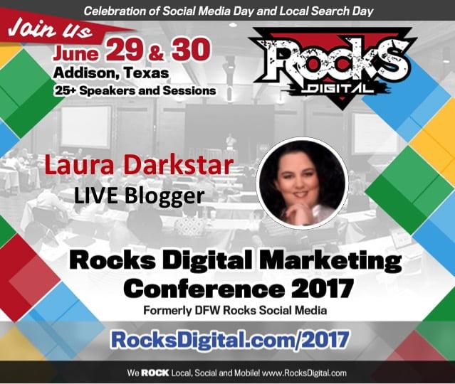 Laura Darkstar, Live Blogger at Rocks Digital 2017