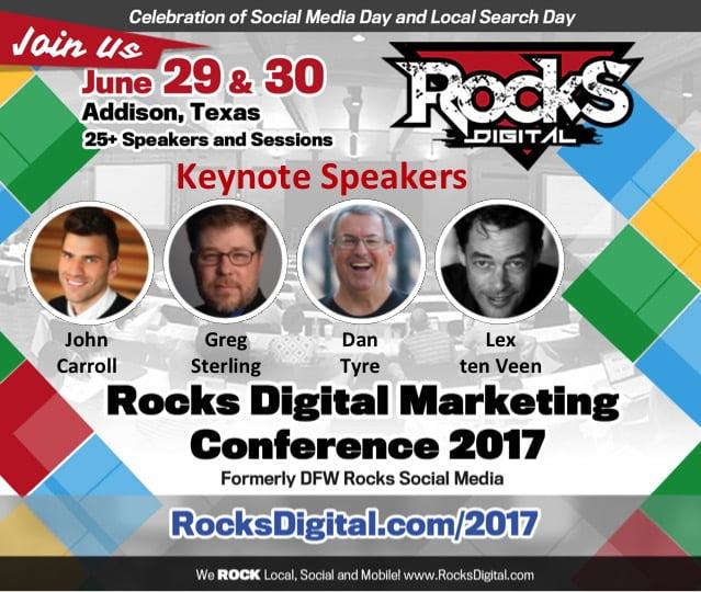 Rocks Digital 2017 keynote speakers