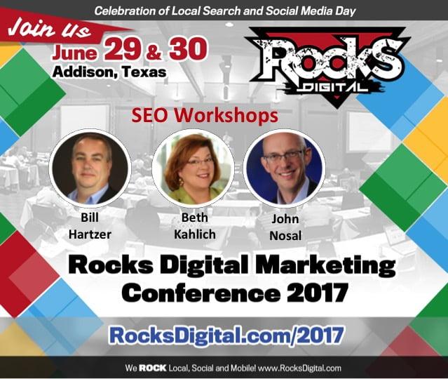 seo workshops rocks digital 2017