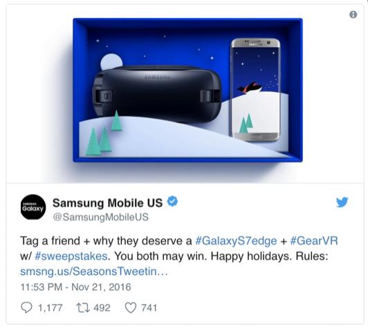 Samsung Twitter Ad