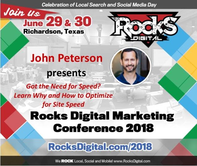 John Peterson, Web Developer, to Speak at Rocks Digital Marketing Conference in Dallas 2018